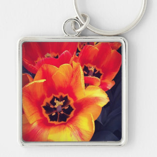 Add Your Photo Silver-Colored Square Key Ring