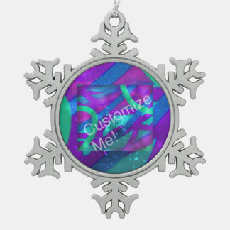 Add Your Photo Snowflake Pewter Christmas Ornament