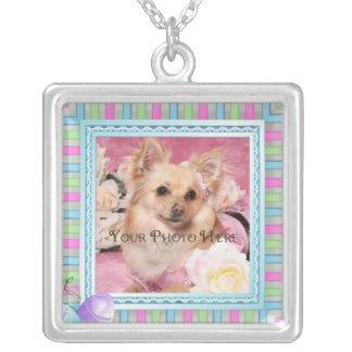 Add your photo square pendant necklace