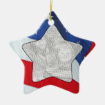 Add Your Photo Stars & Stripes Ornament
