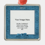 Add Your Photo - Teal Chenille Square Template