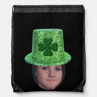 Add Your Photo To A St. Patricks Glitter Hat Rucksack