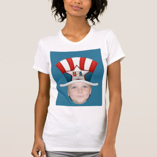 Add Your Photo To A USA Stars Stripes Hat Tshirts