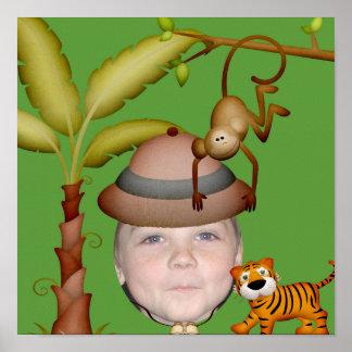 Add Your Photo To A Wild Jungle Safari Theme Poster