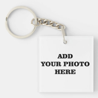 ADD your photo  wedding favor Single-Sided Square Acrylic Key Ring