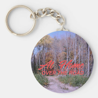 Add your pic over the road designs 12 basic round button key ring