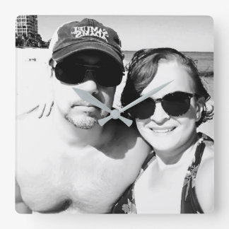 Add your Picture Personalized Couple Square Wall Clock