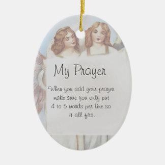 Add Your Prayer, Goal, Wish, etc.. Ceramic Oval Decoration