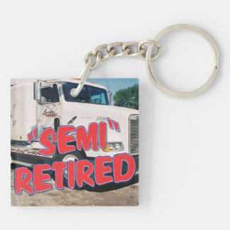 add your semi photo Double-Sided square acrylic key ring