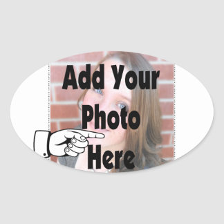 Add your special Photograph Picture Oval Sticker