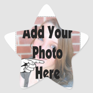 Add your special Photograph Picture Star Sticker