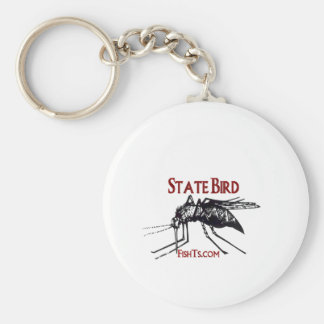 Add Your State Name-State Bird Basic Round Button Key Ring