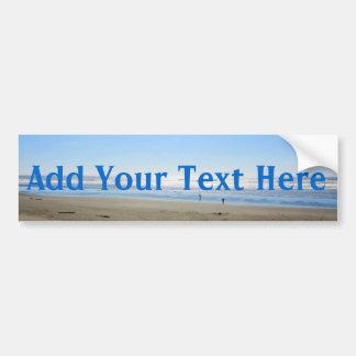Add your text beach bumper sticker