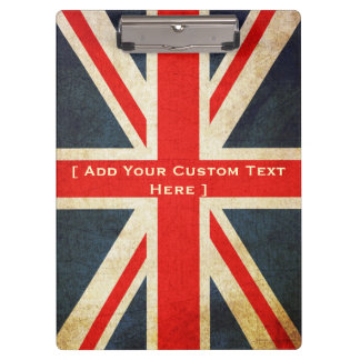 Add Your Text Custom Union Jack Clipboard