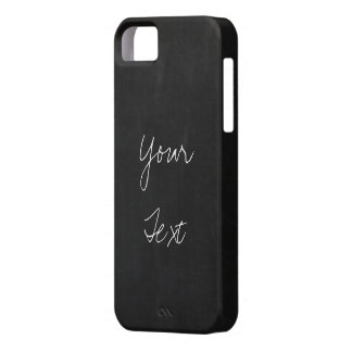 Add YOUR TEXT to Chalkboard background Case For The iPhone 5
