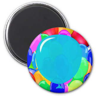 Add Your Text to the Balloon 6 Cm Round Magnet