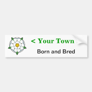 Add your town - Yorkshire Born & Bred sticker