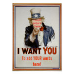 """add YOUR words""  Poster"