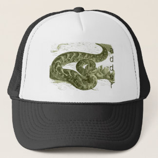 Adder (snake) trucker hat