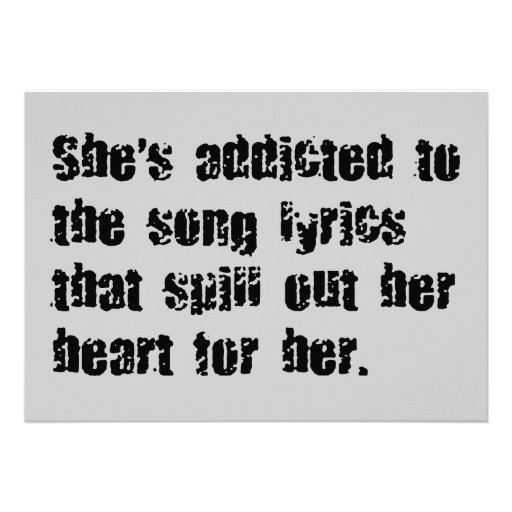 ADDICTED SONG LYRICS HEART SPILL SAD EMO COMMENTS PERSONALIZED ANNOUNCEMENTS