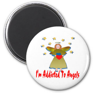 Addicted To Angels 6 Cm Round Magnet