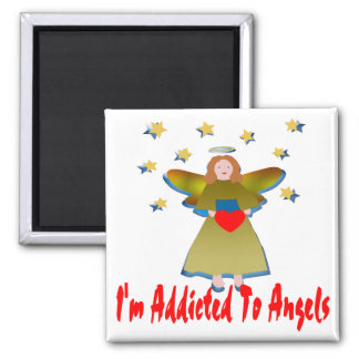 Addicted To Angels Square Magnet