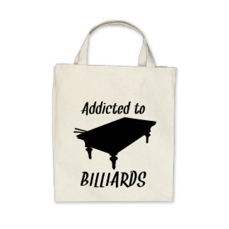 Addicted To Billiards Tote Bags