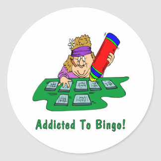 Addicted To Bingo! Classic Round Sticker