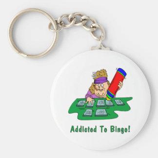 Addicted To Bingo! Key Ring