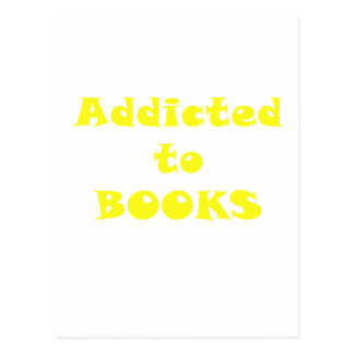 Addicted to Books Postcard