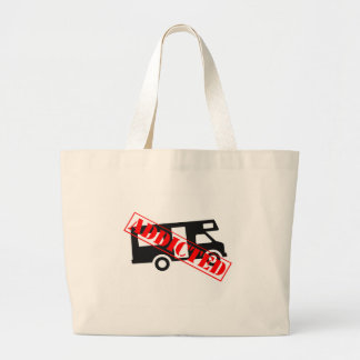 Addicted to Camping Large Tote Bag