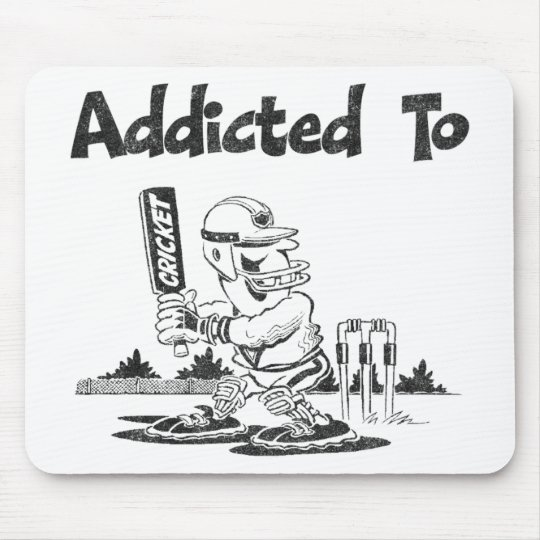 Addicted To Cricket Mouse Mat