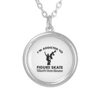 addicted to figure skate custom necklace