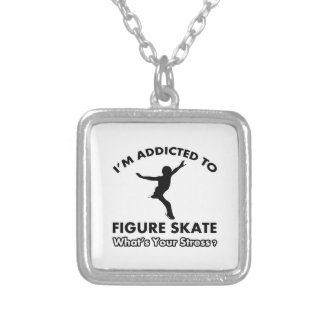 addicted to figureskate personalized necklace