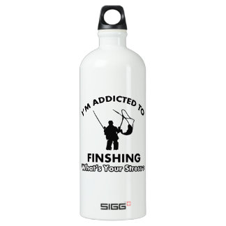 addicted to fishing SIGG traveller 1.0L water bottle