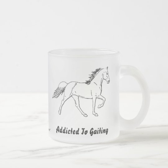 Addicted To Gaiting Frosted Glass Coffee Mug