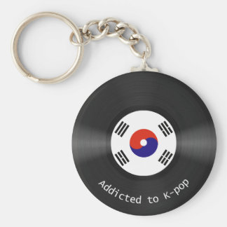 Addicted to Kpop Basic Round Button Key Ring