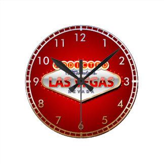 Addicted to Las Vegas, Nevada Funny Sign Clock