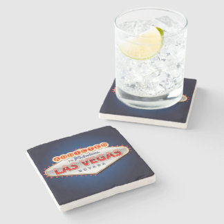 Addicted to Las Vegas, Nevada Funny Sign Stone Beverage Coaster
