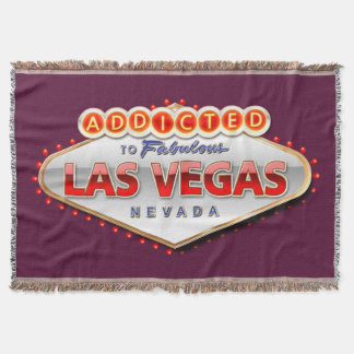Addicted to Las Vegas, Nevada Funny Sign Throw Blanket