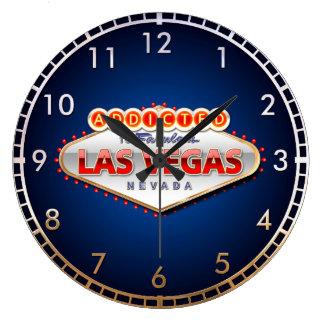 Addicted to Las Vegas, Nevada Funny Sign Wall Clock