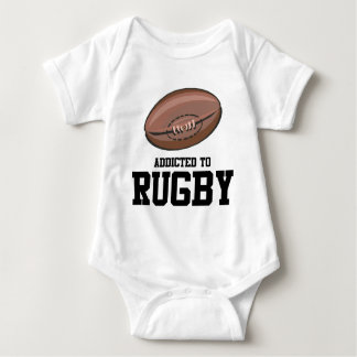 Addicted To Rugby Baby Bodysuit