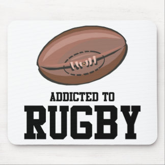 Addicted To Rugby Mouse Mat
