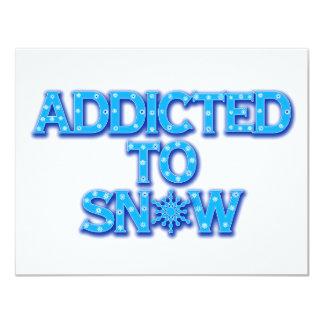 Addicted to Snow 11 Cm X 14 Cm Invitation Card