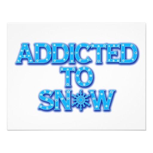 Addicted to Snow Personalized Invites