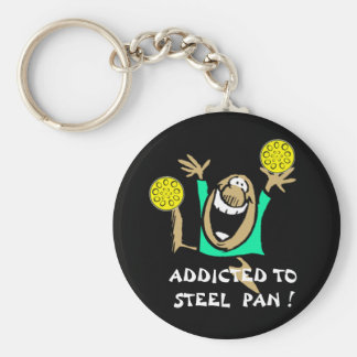 Addicted to Steel Pan key-chain Basic Round Button Key Ring