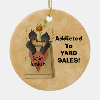 Addicted to Yard Sales! Ornament addict