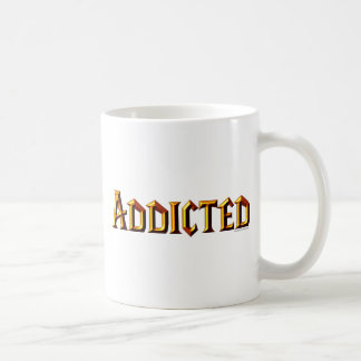 Addicted (WoW font) Basic White Mug