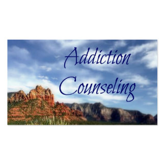 Addiction Counseling Scenic Desert Background Double-Sided Standard Business Cards (Pack Of 100)