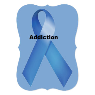 "Addiction 5"" X 7"" Invitation Card"